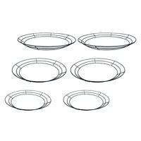 6Pcs 12''~16''Round Wire Wreath Frames Wreath Forms for Christmas DIY Crafts
