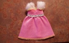 Barbie Kelly Pink Dress Trimmed White Faux Fur Mint Condition