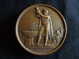 "MEDAILLE EN BRONZE ""BAPTÊME DU ROI DE ROME"" par ANDRIEU 1811 NAPOLÉON 1er"
