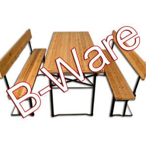 B-Ware Bierzeltbank mit Rückenlehne