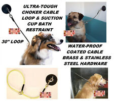 """Dog Grooming""""HOLD EM""""Bath RESTRAINT SUCTION CUP,HOOK&CHOKER STYLE LOOP Noose"""