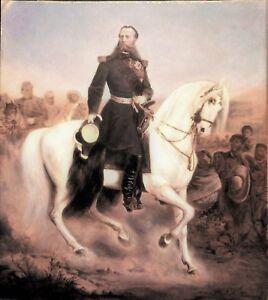 vintage gouache photo emperor Maximilian of Mexico emperador Maximiliano ca 1868