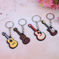 2pcs keychain mou d'instrument de musique de silicone, guitare électrique folkTR