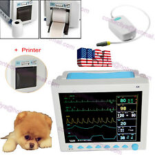 Veterinary Vital Signs Patient Monitor Capnograph ETCO2 with Printer For Animals