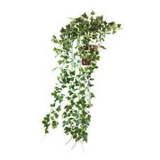 Artificial Trailing Ivy Bush 'Potted' Dark Green 60cm Trails