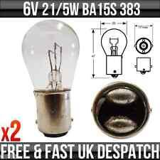 6v 21/5w BA15D Stop & Tail Bulbs 383 x 2