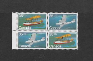 1979 CANADIAN AIRCRAFT BLOCK of FOUR MNH.