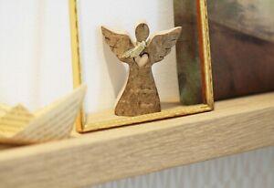 Engel aus Holz mit Rinde (Weihnachten)