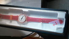 Swatch Watch, NOS Vintage red, white band/dial 1994, Cool. collector's item
