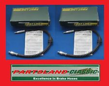 Pair Front Left/Right Hydraulic Brake Hose Ford KA 1.0,1.3 1996 - 2008 LH0364