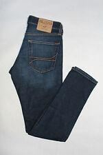HOLLISTER Damen Jeans W28 L30 Super Skinny Dunkelblau Cotton NEU -29