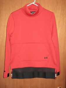 NWOT Under Armour Move Mock Long Sleeve Radio Red Sweatshirt Women's Small