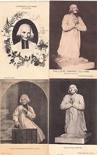 Lot 4 cartes postales anciennes ARS statue portrait du curé 3
