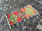 Turkish doormats, Handmade rug, Vintage rug, Carpet, Home decor | 1,5 x 2,8 ft