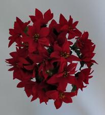 ARTIFICIELLE synthétique fleurs-Velours Rouge Noël Poinsettia Bottes x 3 Lots