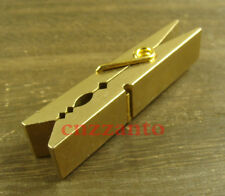 Retro Solid brass paperclip Clothespin clamp Z242B
