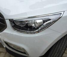 2010-2014 For Hyundai Tucson IX35 Front Head Lights Lamp Trim Covers Accessories