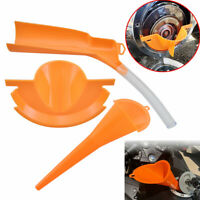 ABS Orange Primary Oil Fill Funnel+Catcher Drain Oil Funnel+Oil Filling Funnel