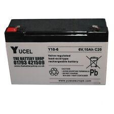 Y10-6, 6V 10Ah (as 12Ah) YUCEL Lead Acid Rechargeable Battery 12Ah 6v NP10-6
