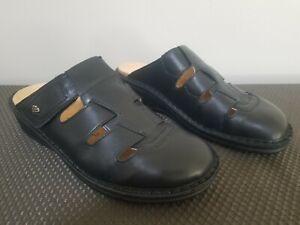 Finn Comfort Java Black Nappa Clogs US 8 EU 39