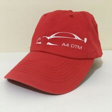 Red Audi A4 DTM Baseball Cap Peaked Hat Automobilia Genuine Official Product