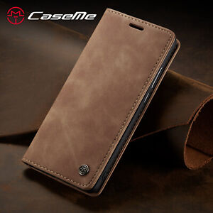 For Samsung A42 A21S S21 S20+ Vintage PU Leather Flip Case Wallet Magnetic Cover