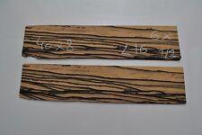 6x Ebéne blanc 40 x 8 cm ép 0.6mm(placage bois,Lutherie luthier ebony white)L16