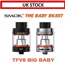 E Cig E Shisha Vape - SMOK Style TFV8 Baby Beast Style Atomizer Clear Tank ✅UK