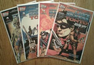 """""""The Lone Ranger and Tonto"""" complete 1st print Topps series by Joe R. Lansdale"""
