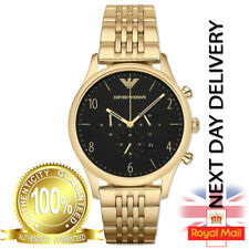 *NEW* EMPORIO ARMANI AR1893 MENS BETA GOLD CHRONOGRAPH WATCH - RRP £339 GIFT UK