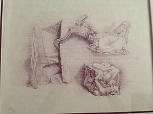 "Hans Bellmer ""souterrain#13""original etching pencil signed and numbered 29/50"
