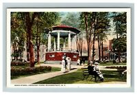 Vintage View of Band Stand, Crescent Park, Schenectady NY c1920 Postcard K16