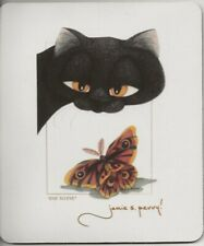 """""""Eye to Eye"""" Cat & Moth Mouse Pad - Art by Jamie S. Perry"""