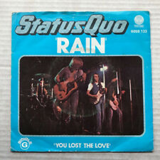 """STATUS QUO RAIN(PORT) 7""""  1976 WITH YOU LOST THE LOVE  -  some light surface mar"""