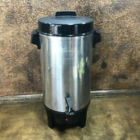 Vintage WEST BEND 42 Cup Electric Office Commerical PERCOLATOR COFFEE POT URN