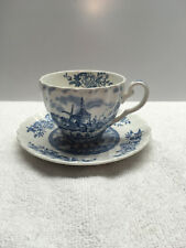 Johnson Brothers Tulip Time Blue White  1 Cup & 1 Saucer England