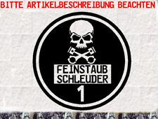 Schwarze Feinstaubplakette Aufkleber Totenkopf  Skrull Umweltplakette