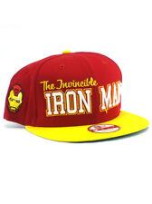 New Era Iron Man 9fifty Snapback Hat Adjustable Marvel Avengers Assemble Red NWT