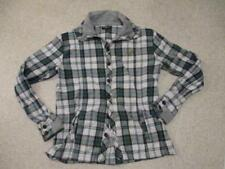 Voi Jeans green & white buttoned thick jumper top adult size xxl