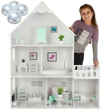 Großes Holz Puppenhaus Barbiehaus Traumhaus Puppenstube GS0023_A Möbeln Villa