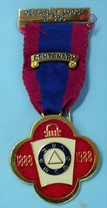 Masonic Mark Lodge Centenary Jewel De Tabley Lodge No 396