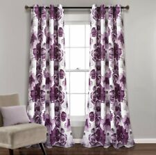 Leah Room Darkening Window Curtain Panels Gray/Purple 52X84 Set