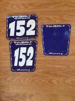 "5X UPDOG INDUSTRIES NUMBER #2 RACING DECALS STICKER 6/"" WHITE YFZ450R 250R NEW"