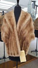 Pastel Mink Fur Stole/Cape/Wrap; fits up to size 8