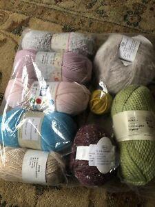 9 Random Balls Of Yarn.