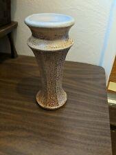 Beautiful Hand Spun Pottery Vase, Signed and Glazed