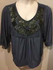LIZ JORDAN WOMEN'S TOP..SIZE L.(14-16)..hand beaded..NEW WITH TAGS..rrp$90