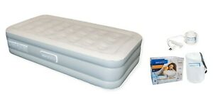 Aerobed antimicrobial SIZE: TWIN 16 inch Tall Inflated Dimension: 74x39x16 inchs