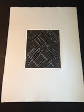 """Ed Moses """"Eloi Vador 3"""" Embossed Etching, Hand Signed, Numbered, Limited Edition"""