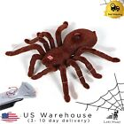 Remote Control Scary Creepy Soft Plush Spider Infrared RC Toy Halloween Prank